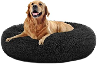 Dog Bed Comfortable Donut Cuddler Round Dog Bed Ultra Soft Washable Dog and Cat Cushion Bed (24''/32''/36''/44'')