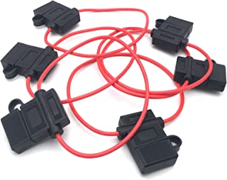 Antrader ATC/ATO 16 AWG Wiring Harness Automotive Fuse Holder with Waterproof Cover 6pcs