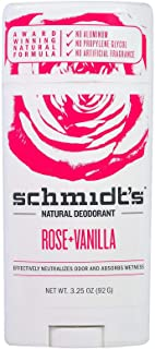 مزيل العرق الطبيعي برائحة الورد والفانيلا 92 جم من شميت
