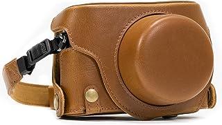 MegaGear MG663 Estuche para cámara fotográfica - Funda (Funda Protectora para el Cuerpo de la cámara Panasonic Lumix DMC-LX100 Marrón)