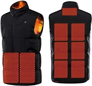 Electric Heated Vest USB Charging Insert Body Warm Wrap Jacket with 3 Adjustable Modes for Cold Outdoor Activities Camping...