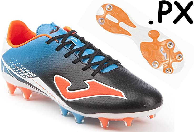 Joma fussballschuh supercoupe Speed S ulw. 501. PX, Taille 44.5(UK 10 US 11 cm 29,5), noir bleu Orange, Misc hohle, MIXED SG Semelle