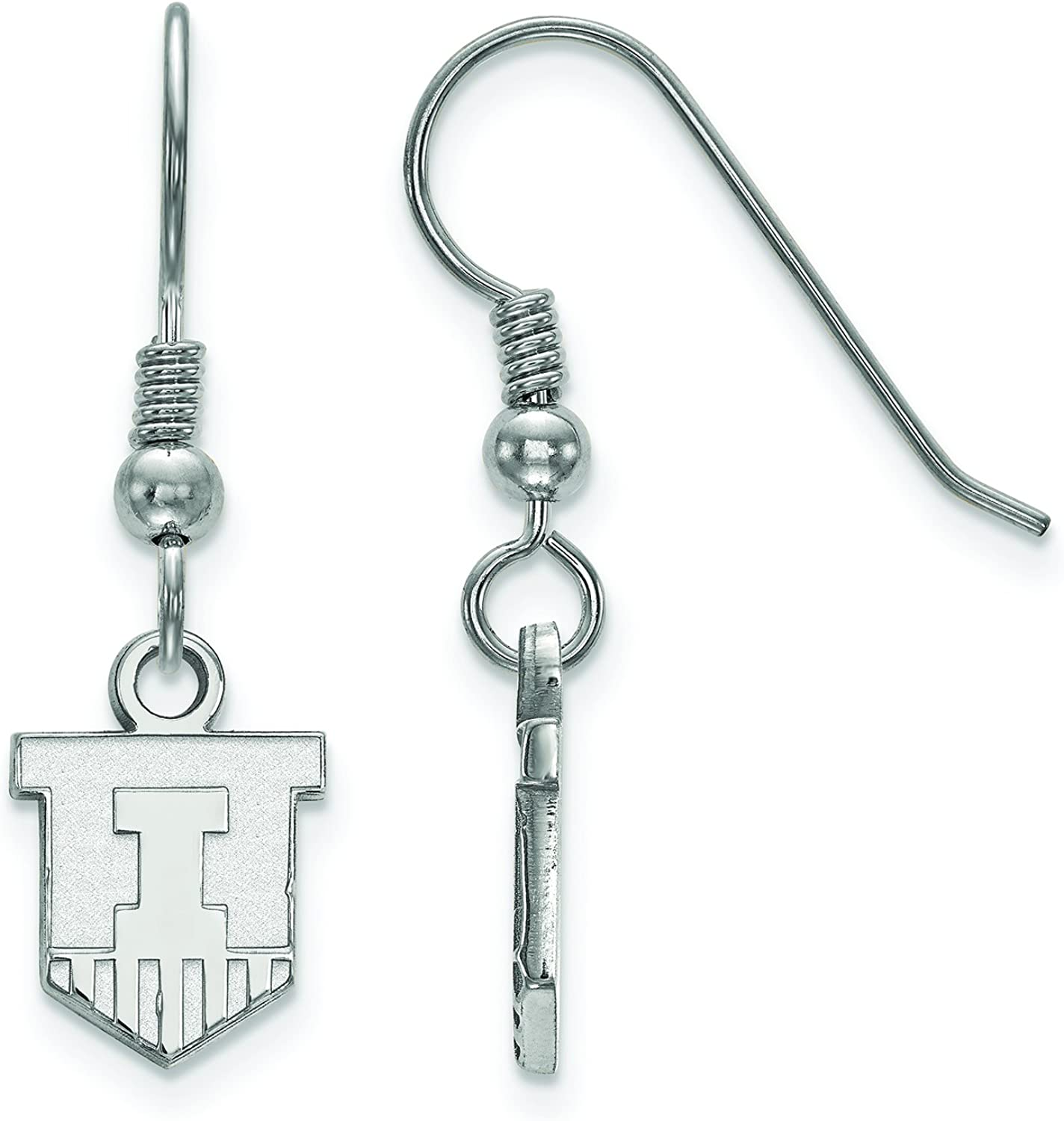 LogoArt SS047UIL Sterling Silver University of Illinois Extra Small Dangle Earrings