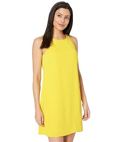 LAUREN Ralph Lauren Sleek Crepe Paland Sleeveless Day Dress (Regatta Yellow) Women