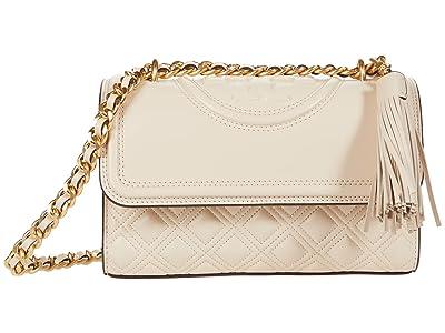 Tory Burch Fleming Small Convertible Shoulder Bag (New Cream) Shoulder Handbags