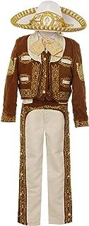 Rain Kids Boys Brown Gold Horse Embroidery Elegant 6 Pc Charro Suit NB-6