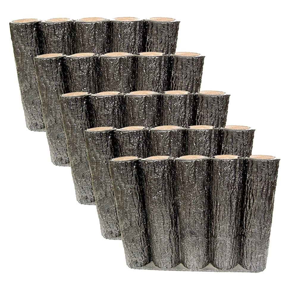 パーティションティッシュ疼痛サンポリ 樹脂製擬木はなえ80φ 5連平行杭タイプ H300 (5本セット)
