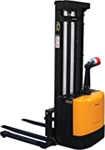 Vestil S-118-AA Powered Drive and Powered Lift Stacker with Adjustable Forks and Support Legs, 2-1/4