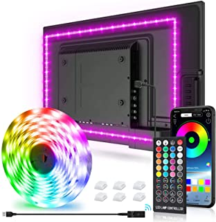 New Fi LED Strip Lights,9.8ft Tv Led Backlight for 32-75 inch TV, PC, Mirror with 40 Keys Remote and APP Control, RGB 5050 DIY Colors TV LED, 28 Scene Modes, Music Sync