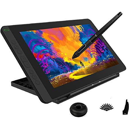 Amazon Com Huion 2021 Kamvas 12 Ultrathin Graphic Drawing Tablet With Screen Full Laminated Pen Display Digital Drawing Monitor Battery Free Stylus Tilt Function 8192 Pen Pressure Stand Included 11 6 Inch Electronics