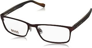 Orange 0151 Mens/Womens Rectangular Full-rim Spring Hinges Authentic Stylish Eyeglasses/Eyeglass Frame