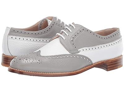 Gravati Calf Leather Wing Tip (White/Grey) Women