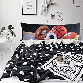 ARIGHTEX Sports Body Pillow Covers Balls Pattern Long Body Pillow Case Teenage Boys Body Pillow Protector Cover 20