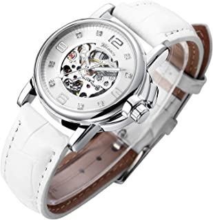 Women's Watch Luxury Mechanical Stainless Steel Skeleton Steampunk Automatic Self Winding Wristwatch