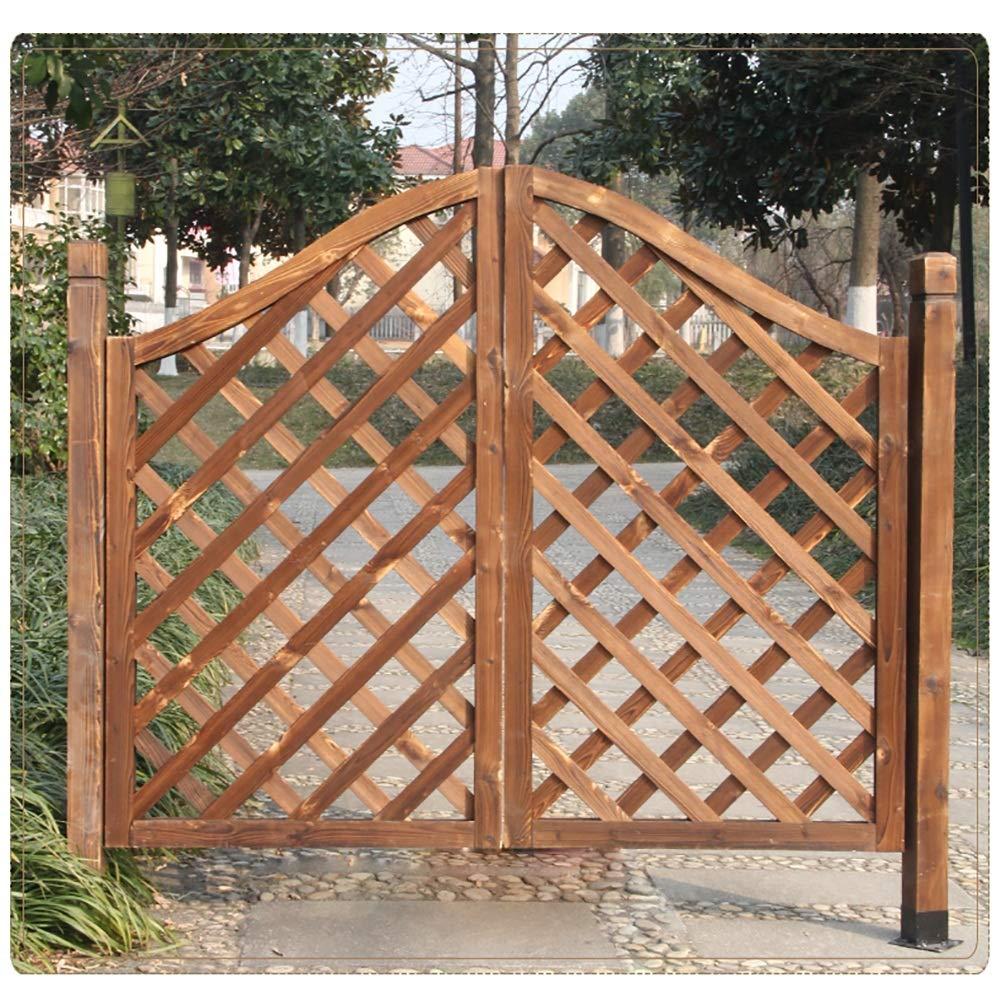 GuoWei Jardín Balanceo Puerta Puerta de Vaivén Patio Entrada Bar Café Al Aire Libre Utilizar Madera Maciza Hecho Bisagra Incluido (Size : 120cmx110cm): Amazon.es: Bricolaje y herramientas