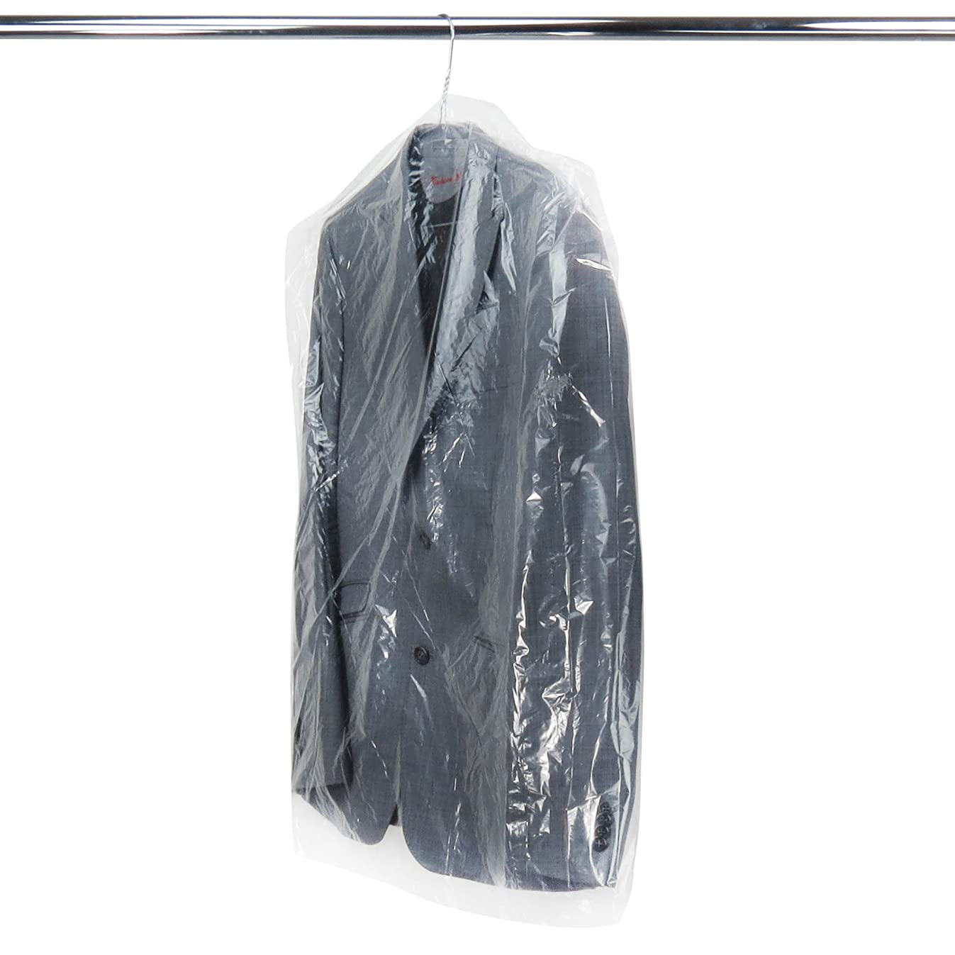 HANGERWORLD 50 Clear 40inch 80 Gauge Dry Cleaning Laundrette Polythylene Garment Clothes Cover Protector Bags.