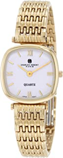 Charles-Hubert, Paris Women's 6796 Premium Collection Gold-Plated Stainless Steel Watch
