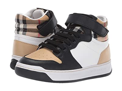 Burberry Kids Duke High Top Sneaker (Toddler/Little Kid) (Antique Yellow/Camel) Kid