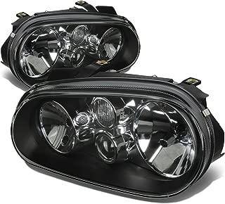 For Volkswagen Golf MK4 MK IV Pair of Black Housing Headlight Lamps Kit