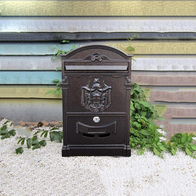 ヨーロッパスタイルのヴィラメールボックス屋外防水レターボックス壁掛け壁クリエイティブメールボックス 屋外セキュリティメールボックス