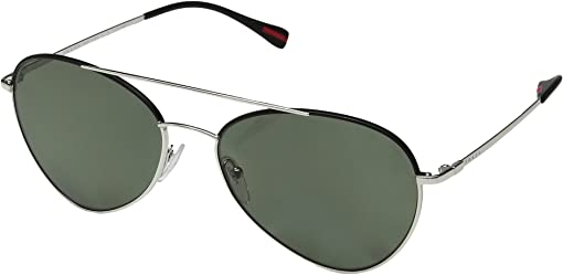 Silver/Black/Polarized Green