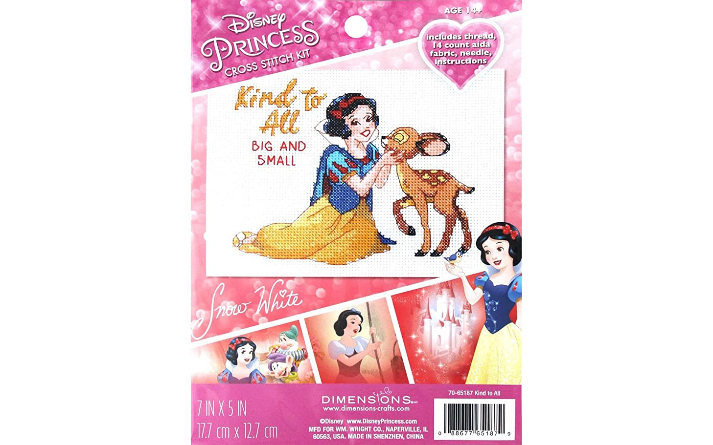 Dimensions Disney Snow White Counted Cross Stitch Kit for Beginners,