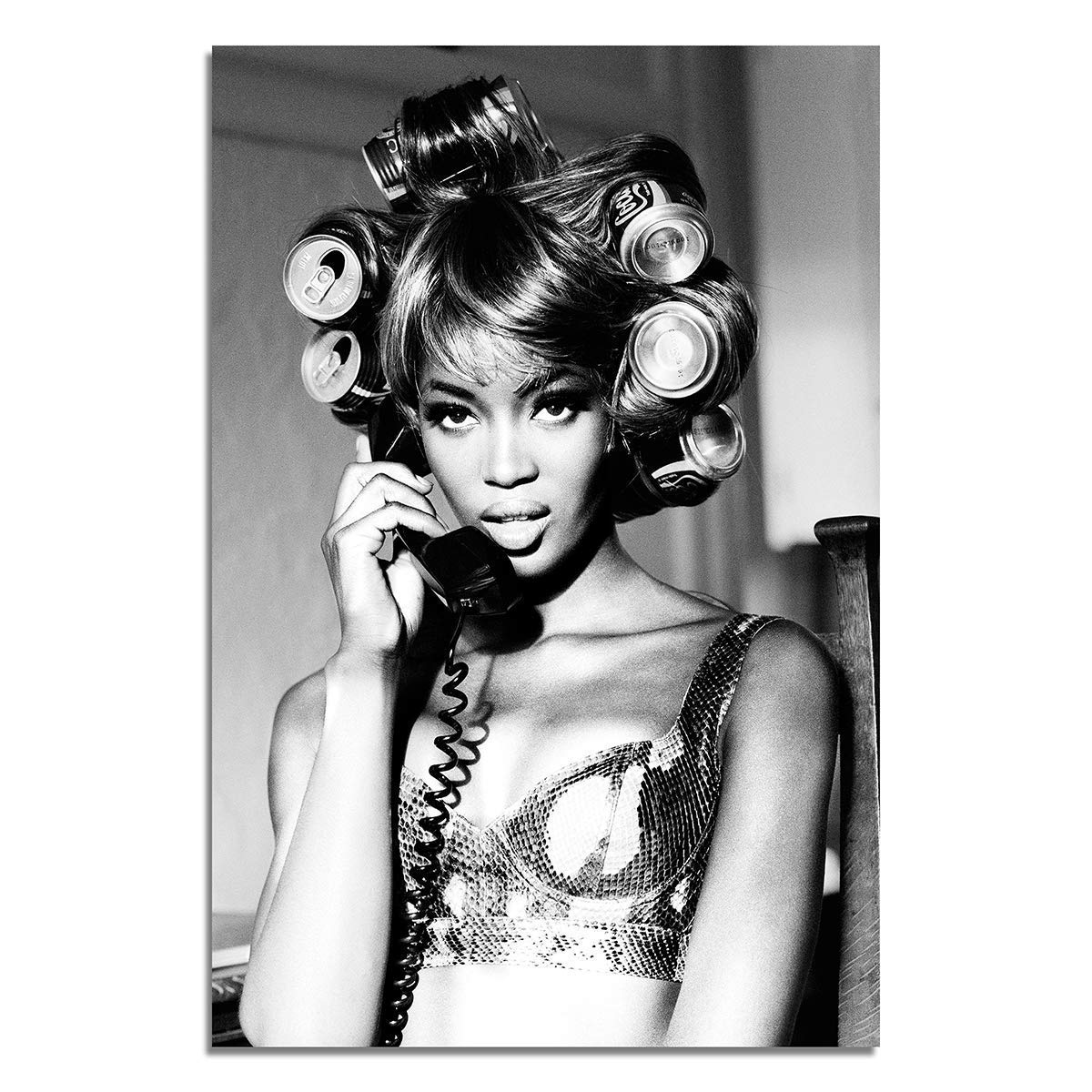 Naomi Campbell 90s Super Model Pin Up Canv Poster Erotic Art and Limited price New item