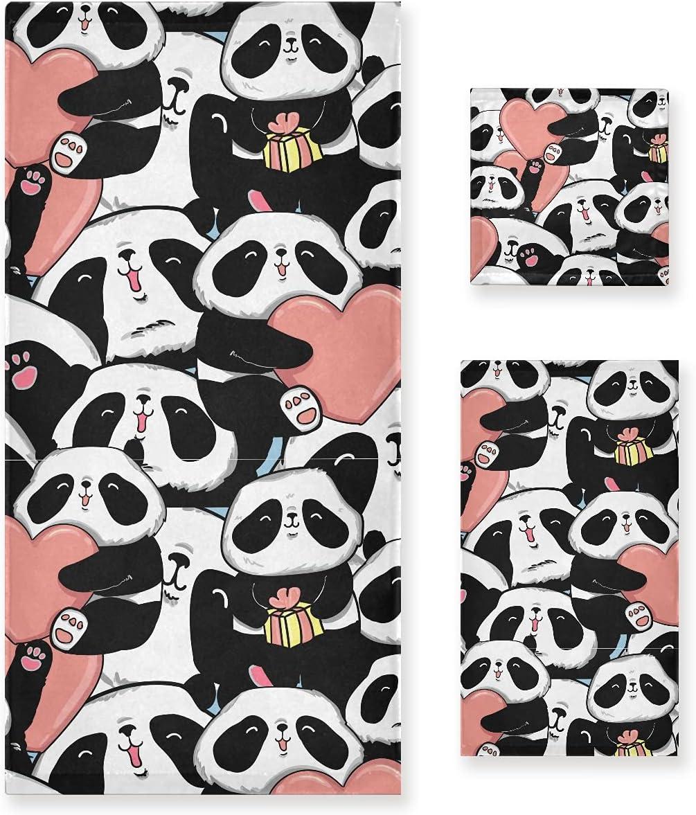 ALAZA Panda Purchase Heart Black Reservation White Bear Soft Decorative Luxury of Set