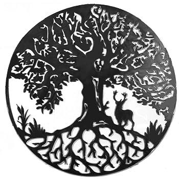 ~27.5 70cm Antique copper Tree of Life garden home office metal steel wall art sculpture