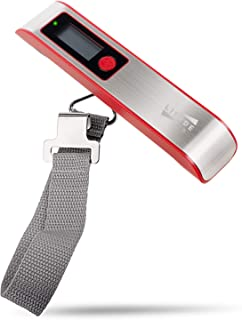 Lifede Digital Luggage Scale, Stainless Steel and ABS,110 Pounds,Gift for Traveler,Red
