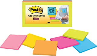 Post-it Super Sticky Full Adhesive Notes, 2x Sticking Power, 2x Sticking Power, 3 in x 3 in, Rio de Janeiro Collection, 12 pads/pack (F330-12SSAU)