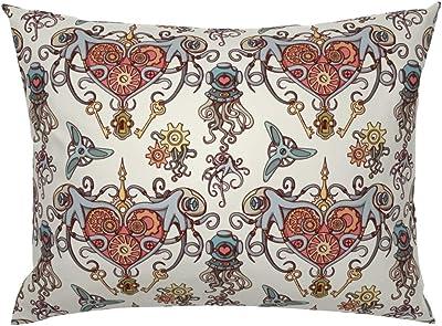 Amazon.com: Diseñador cubierta plateada de almohadas ...