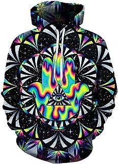 SWAG Hipster Men Trippy Hamsa Printed 3D Hoodie Sweatshirts Unisex Pullover