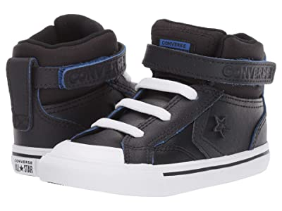 Converse Kids Pro Blaze Strap Hi (Infant/Toddler) (Black/Almost Black/Hyper Royal) Boy