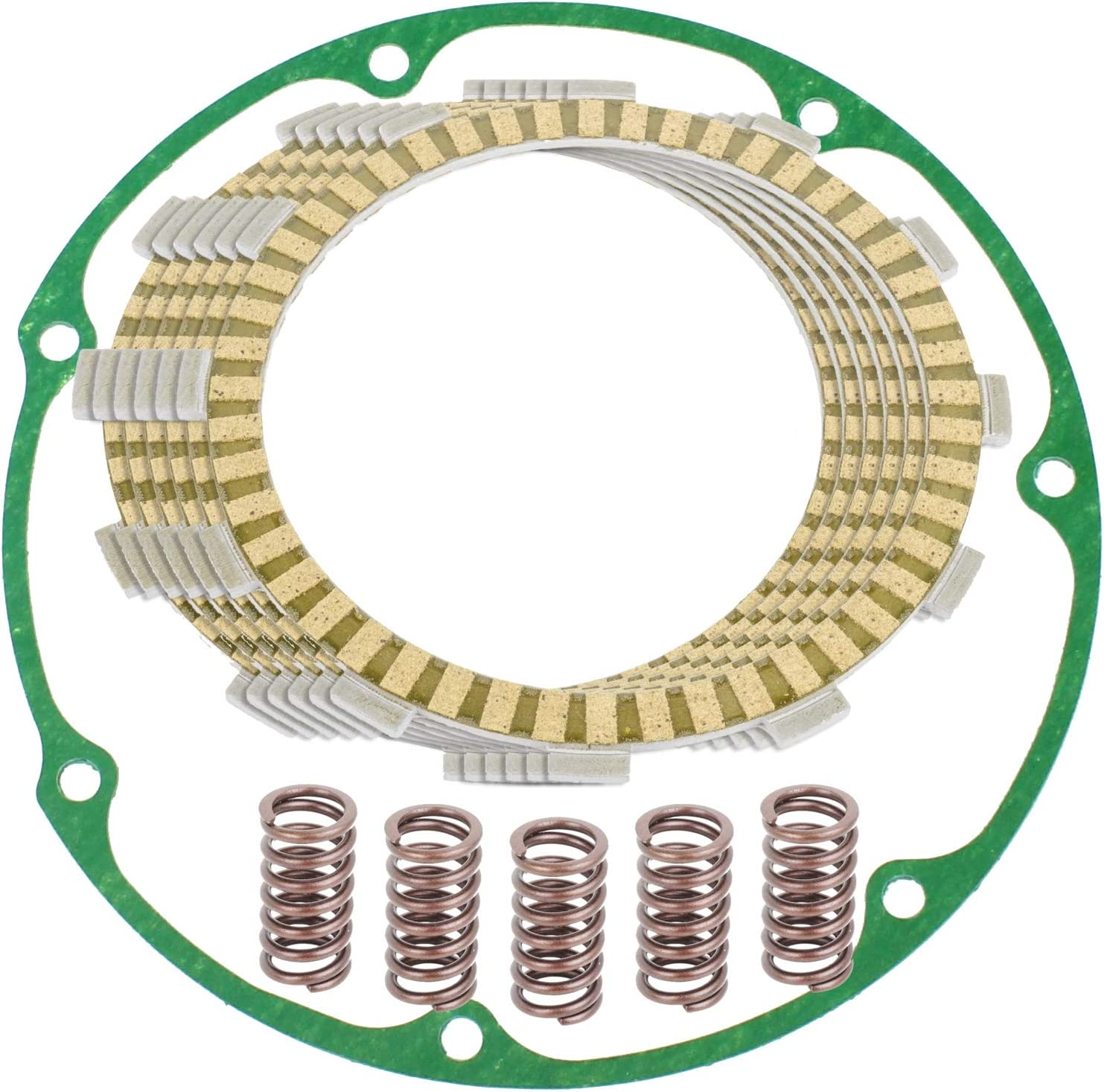 Caltric Clutch Friction Plates And Super Special SALE held Compatible With Ho Gasket Kit 67% OFF of fixed price