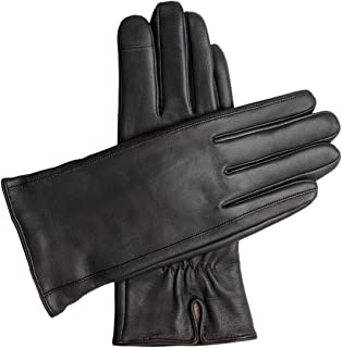 Downholme Touchscreen Leather Cashmere Lined Gloves for Women