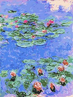 Zimal 5D Diamond Embroidery Monet Water Lilies Coloring Diamond Painting Cross Stitch Mosaic DIY Diamond Painting Crafts D...