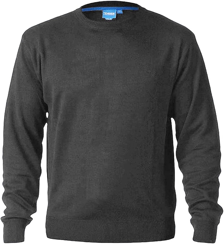 D555 Duke King Size Mens Crew Neck or V-Neck Plain Sweater