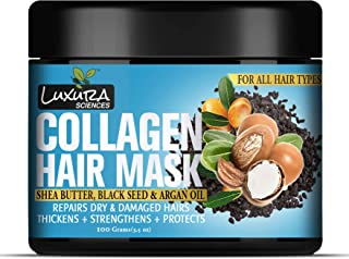 Luxura Sciences Collagen Hair Mask With Black Seed Oil, Argan Oil & Shea Butter 100G