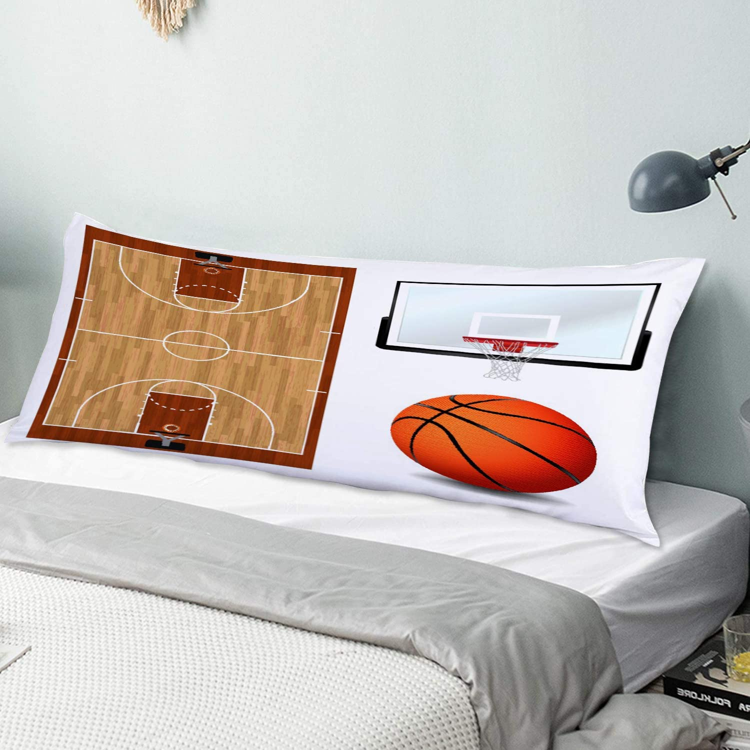 KENADVI Body Pillow Cover Basketball Backboard Court Pillowcase Special price for National uniform free shipping a limited time