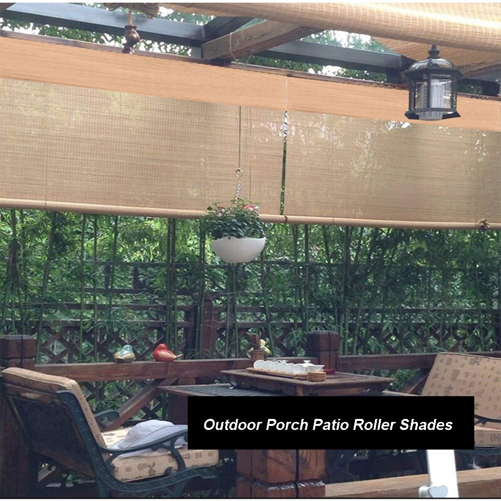 Persiana de bambú Exterior Persianas Enrollables De Sombra, Al ...