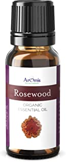 ArOmis Rosewood Essential Oil - Certified Organic - 100% Pure Therapeutic Grade - 10ml, Undiluted, Natural, Premium, Massage Oil, Oils Perfect for Aromatherapy, for Acne, Skin, Fever & More!