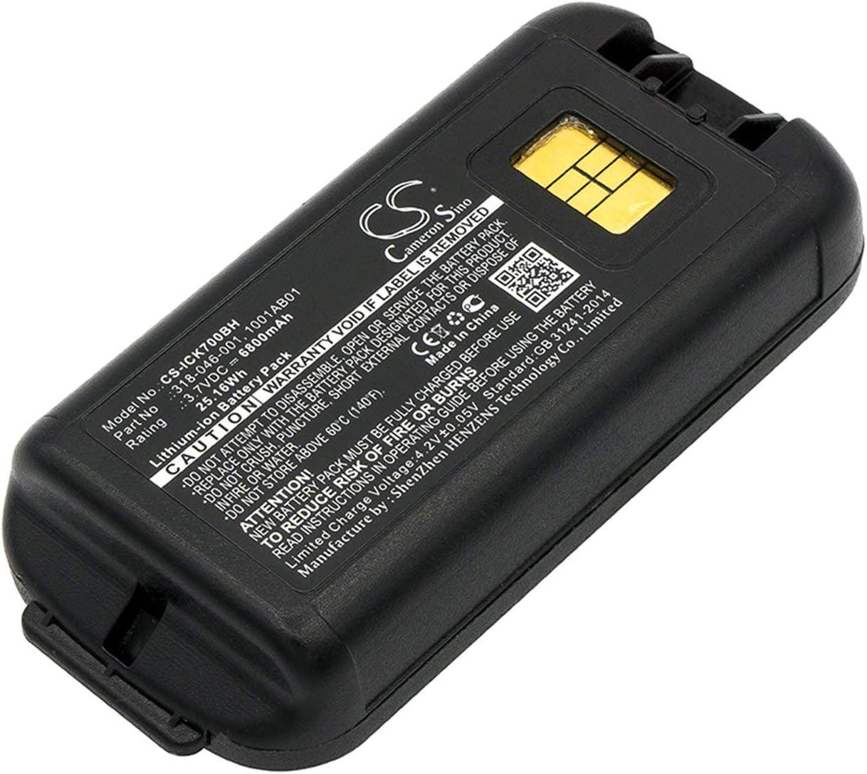 VINTRONS 6800mAh INTERMEC Max 68% OFF 1001AB01 318-0 1001AB02 New sales 318-046-001