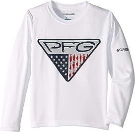 33994a00d82 Terminal Tackle™ Triangle Fill Long Sleeve Shirt (Little Kids/Big Kids). Columbia  Kids