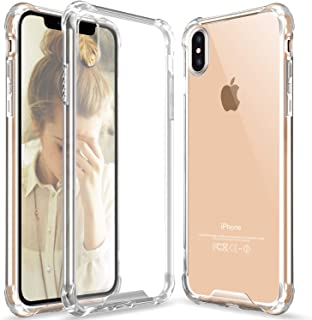 Clear iPhone Xs Max case, iPhone Xs Max Crystal Clear Case Slim Hybrid Shockproof Anti-Scratch Hard Back Soft Shock Absorption Technology TPU Bumper Drop Protective Case Compatible Apple iPhone Xs Max