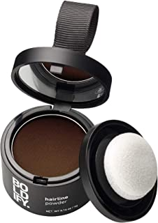 BOLDIFY Hairline Powder (Medium Brown) Instantly Conceals Hair Loss and Fills In Receding Hairlines, Bald Spots, and Wide Parts - Stain-Proof 48 Hour Formula for Hair & Beard - Root Concealer & Gray Hair Coverage