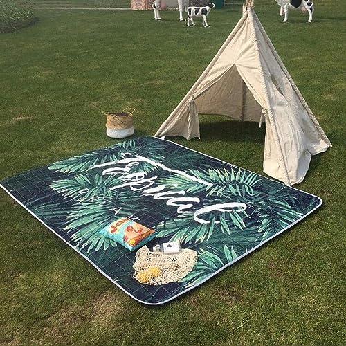 HappyTime Coussin Pliant Tapis de Pique-niquer Tapis de Camping Mat de Loisir Tapis de Sol intérieur imperméable et étanche à l'humidité,a