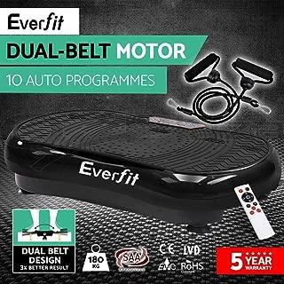 Black Everfit Vibration Machine Platform Vibrating Plate Home Gym Fitness Body Shaper