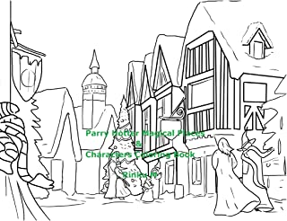 Parry Hotter Magical Places & Characters Coloring Book