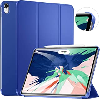 Ztotop Case for, Ultra Slim Minimalist Trifold Stand Smart Case with Auto Sleep/Wake, Protective Back Cover Support 2nd Gen iPad Pencil Charging for iPad Pro 11 Inch (Corner Protection, Navy Blue)